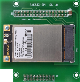 RAK 833 LoRa Gateway Concentrator SPI adapter Raspberry Pi