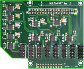 Multi UART 8x RS232 ports Raspberry Pi IO Card